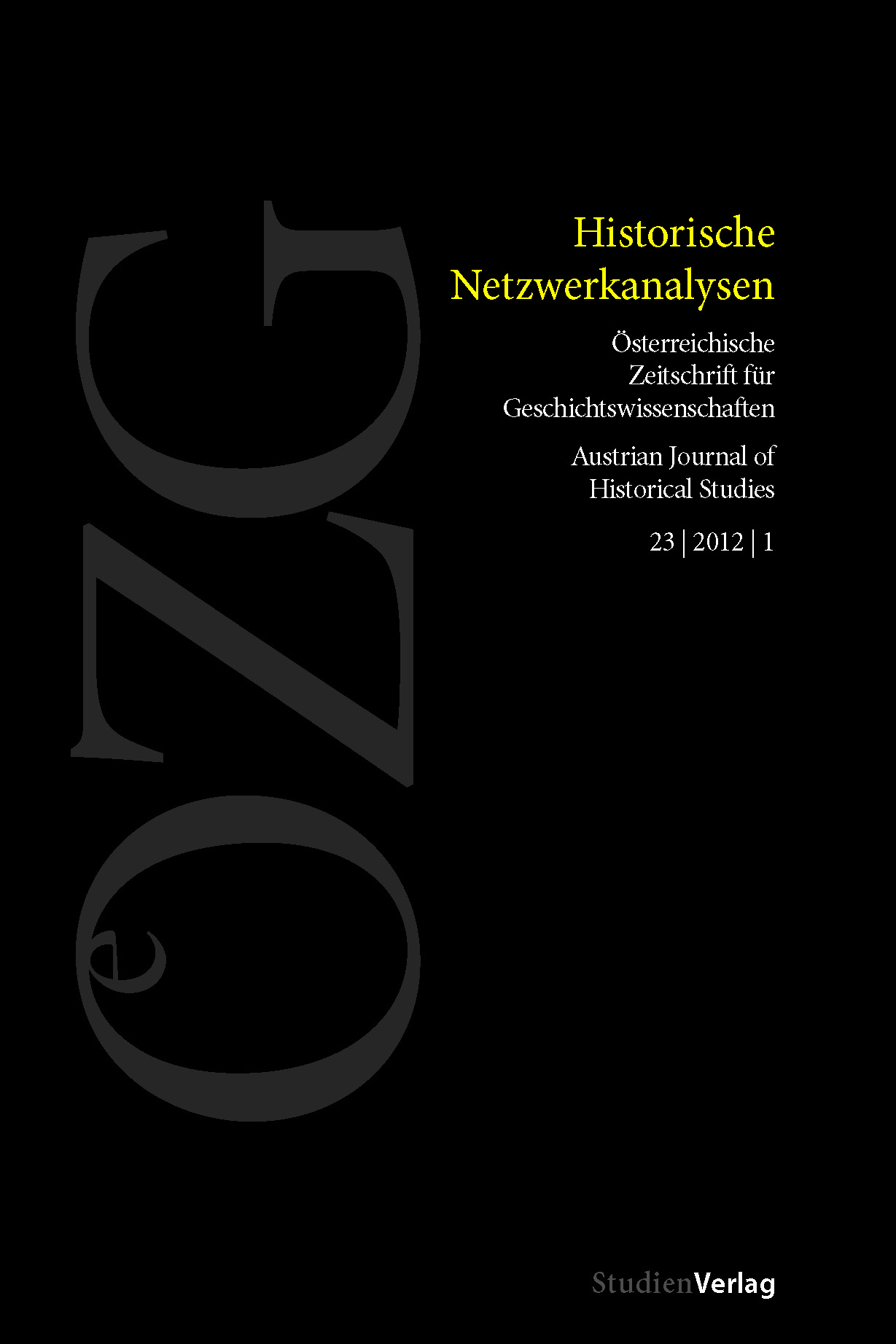 Österreichische Zeitschrift für Geschichtswissenschaften 23. Jg ...